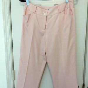 J McLaughlin Pink-8-crop pant. Silk/cotton pants.
